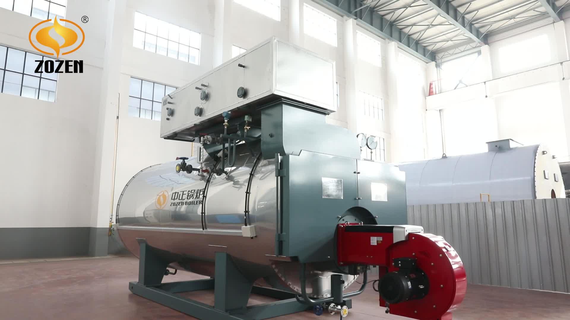 3 t/h Wns Industrial Natural Gas Lpg caldera de vapor