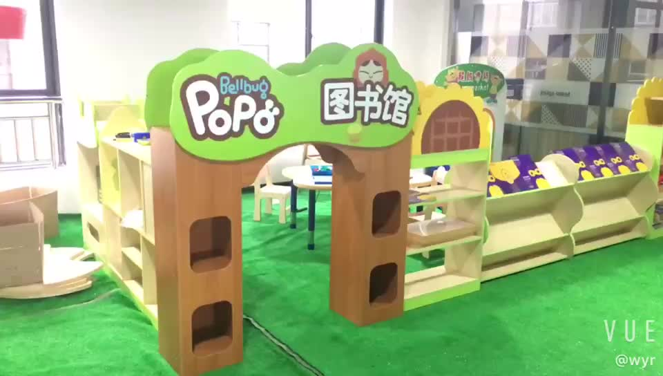 Indoor Playground Kids role play game indoor house playground fireman design wooden playhouse For Kids