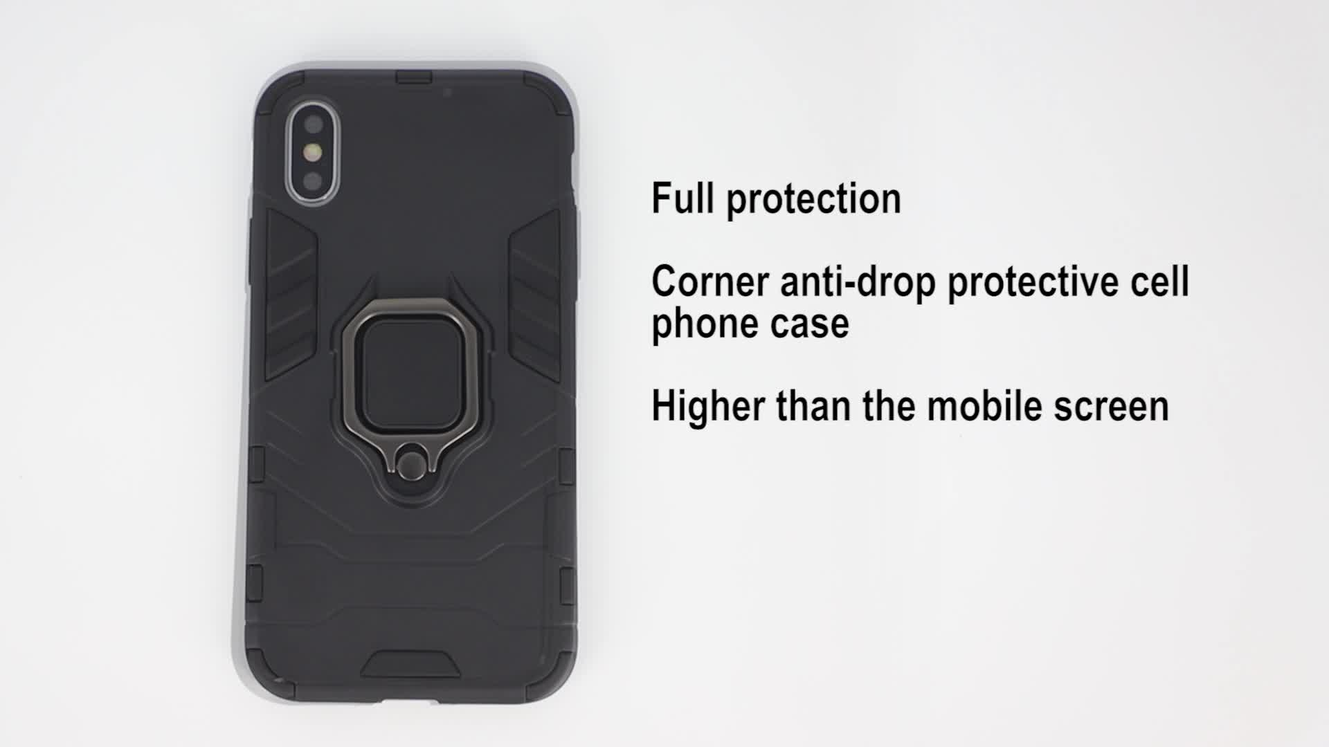 2019 new arrival shockproof phone case for moto g7 play ring kickstand cell phone case for moto g7 play