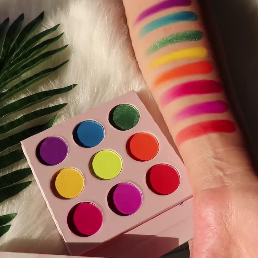 9 renk özel marka göz farı Paleti, Özel Göz Farı Paleti Private Label