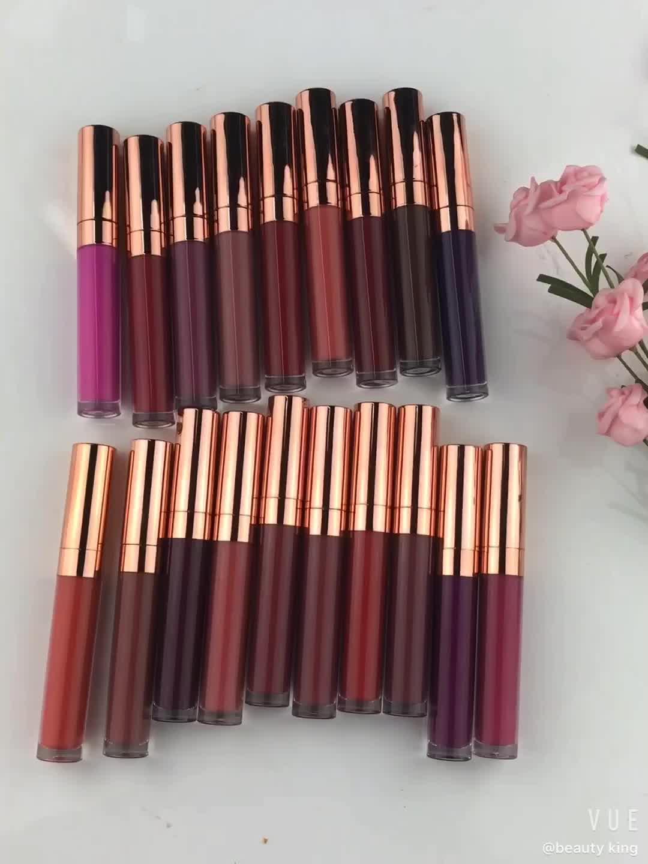 Lippenstift Hersteller Großhandel Lange Anhaltende Cruelty Free 24 Stunden Private Label Wasserdichte Matte Flüssigkeit Lippenstift