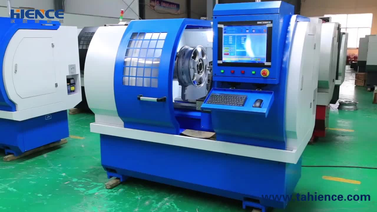 AWR2840PC Smart PC diamond cut car wheel repair cnc lathe equipment