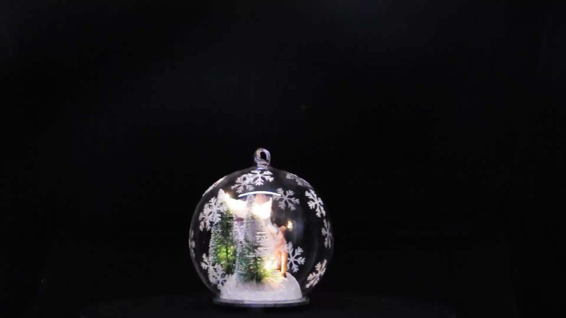 Personalizzato fatto a mano decorativo arte cinese del mestiere 12 centimetri di vetro palle di natale