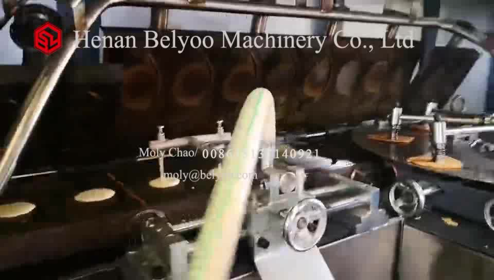 Popular 2020 BELYOO waffle cone production line ice cream cone machine with factory price