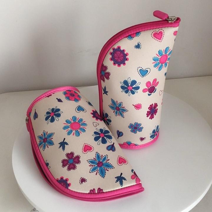 Неопрен Новинка встать Карандаш сумка/карандаш мешок бесплатный образец большой емкости Макияж кисточки держатель для обувь девочек