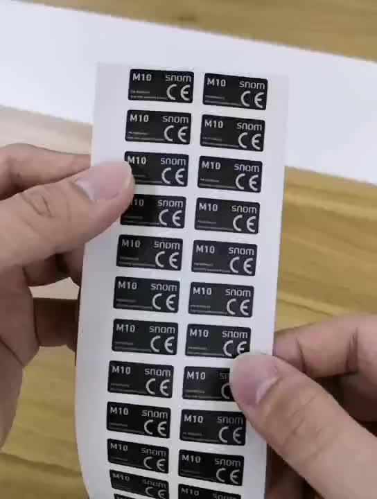 Kualitas tinggi matt putih pet pencetakan stiker