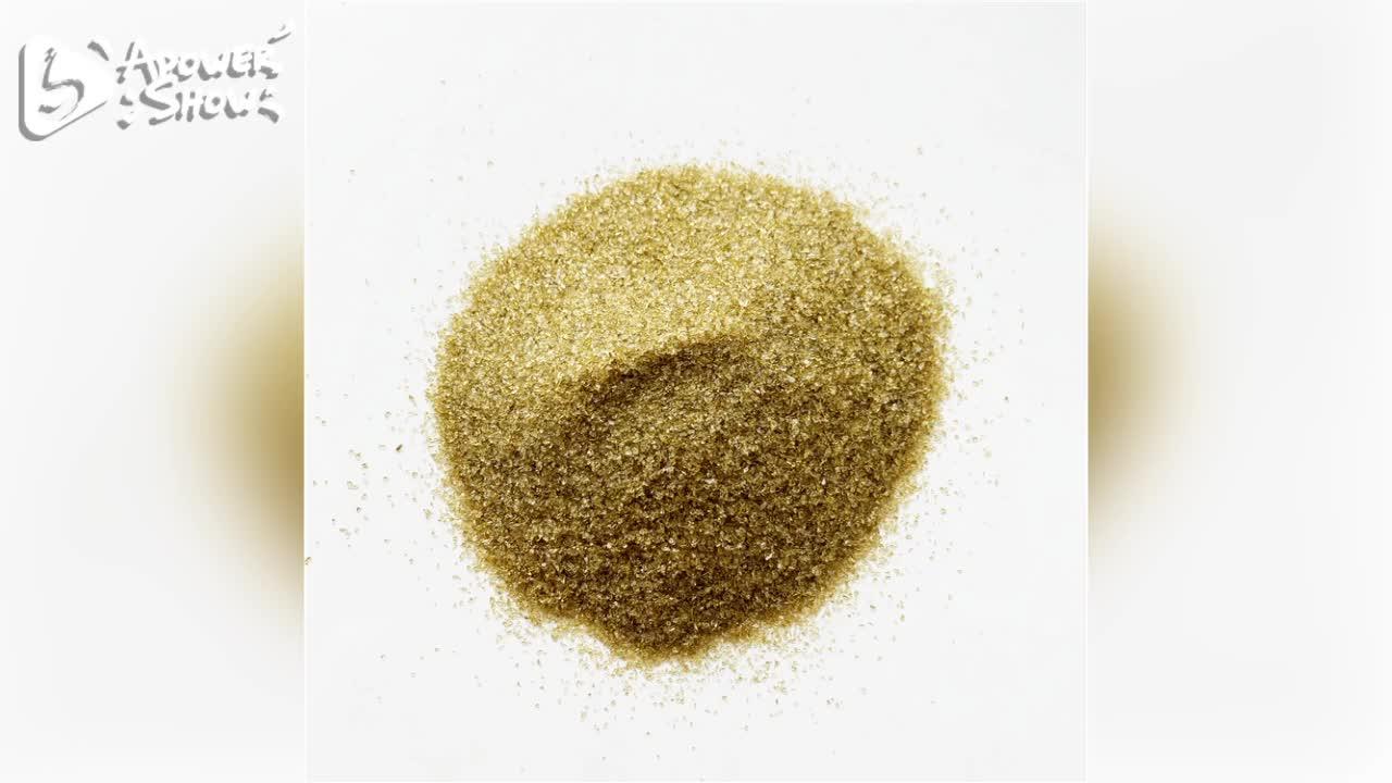 Grain size glass colored sand