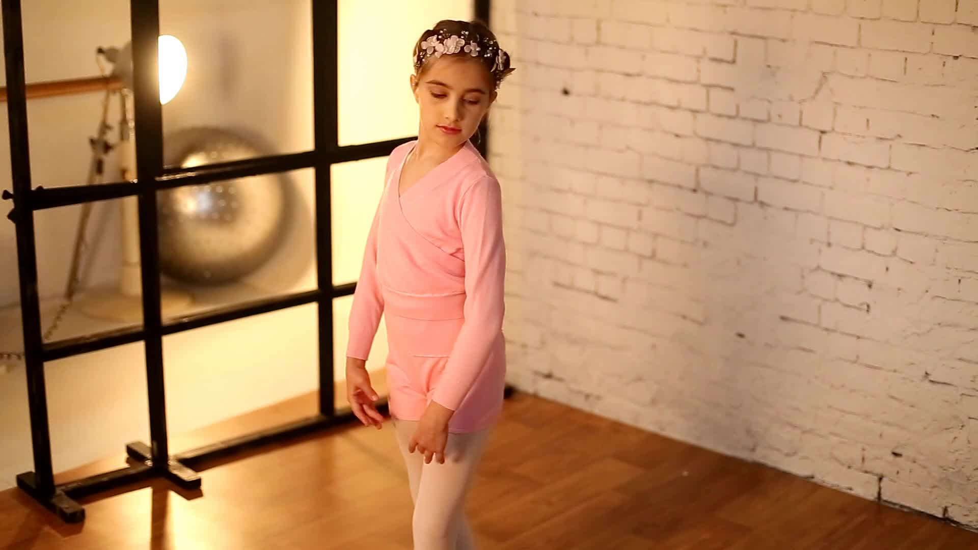 117246005 Child Long Sleeve Cross Front Warm Ups Dance Practise Sweater