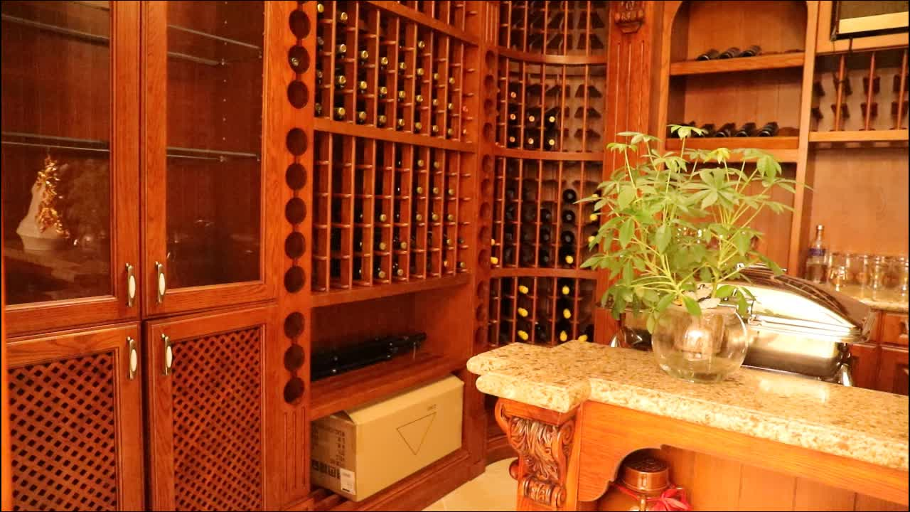 Welbom China Manufacturer Customized 골동품 Solid Wood Red Wine cabinet