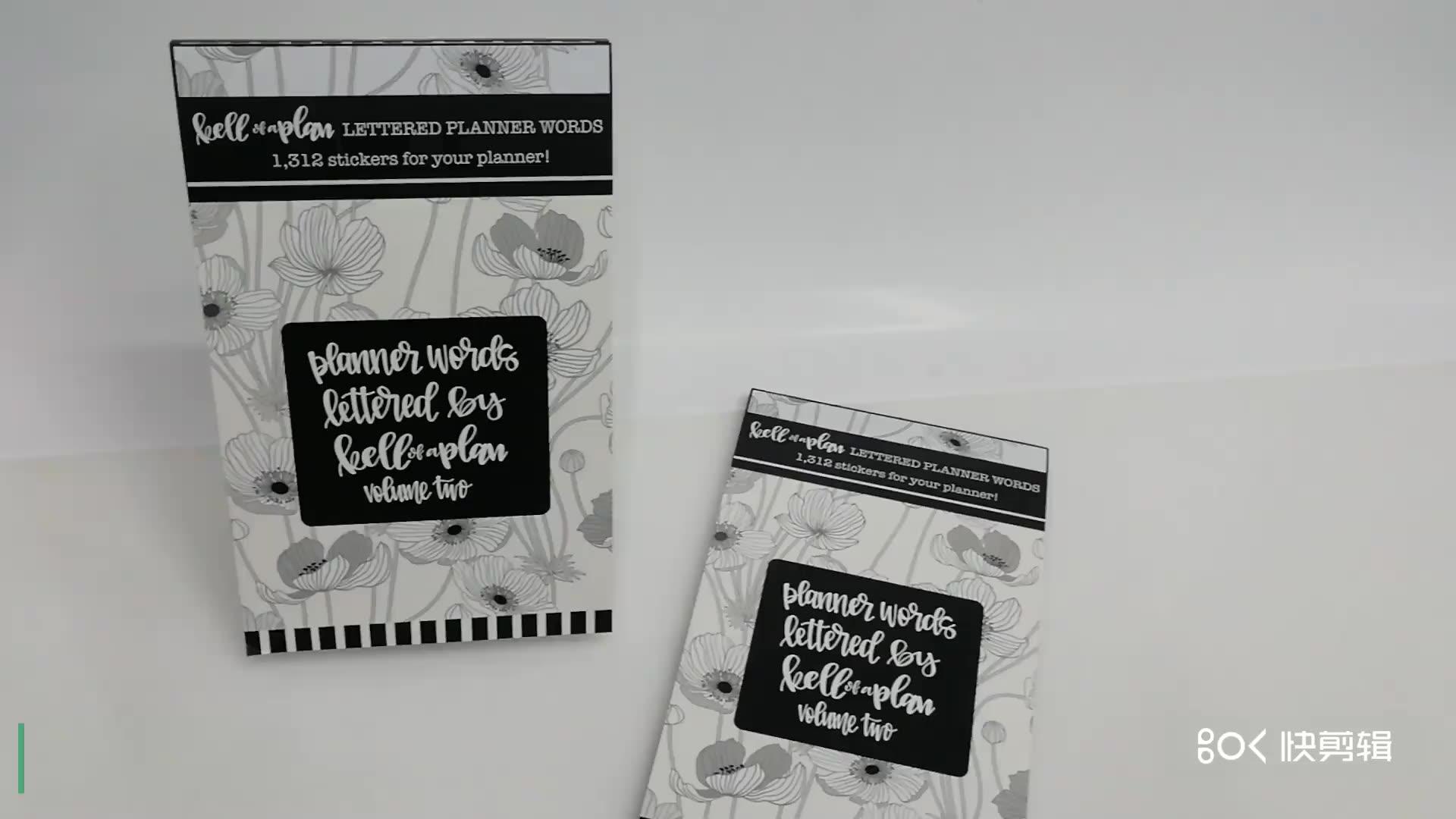 Пользовательские печати многоразового использования детей планировщик деятельности наклейки книги для детей