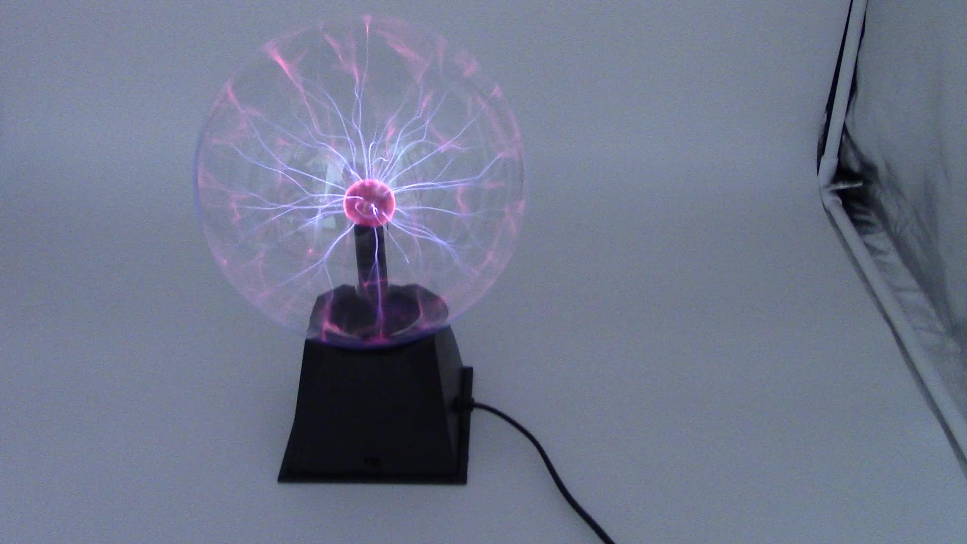 Gelsonlab HSPE-039 Plasma Ball Touch Sensitive 3 นิ้วขนาดเล็กโคมไฟพลาสม่า Usb หรือแหล่งจ่ายไฟแบตเตอรี่ Lightning Sphere Light