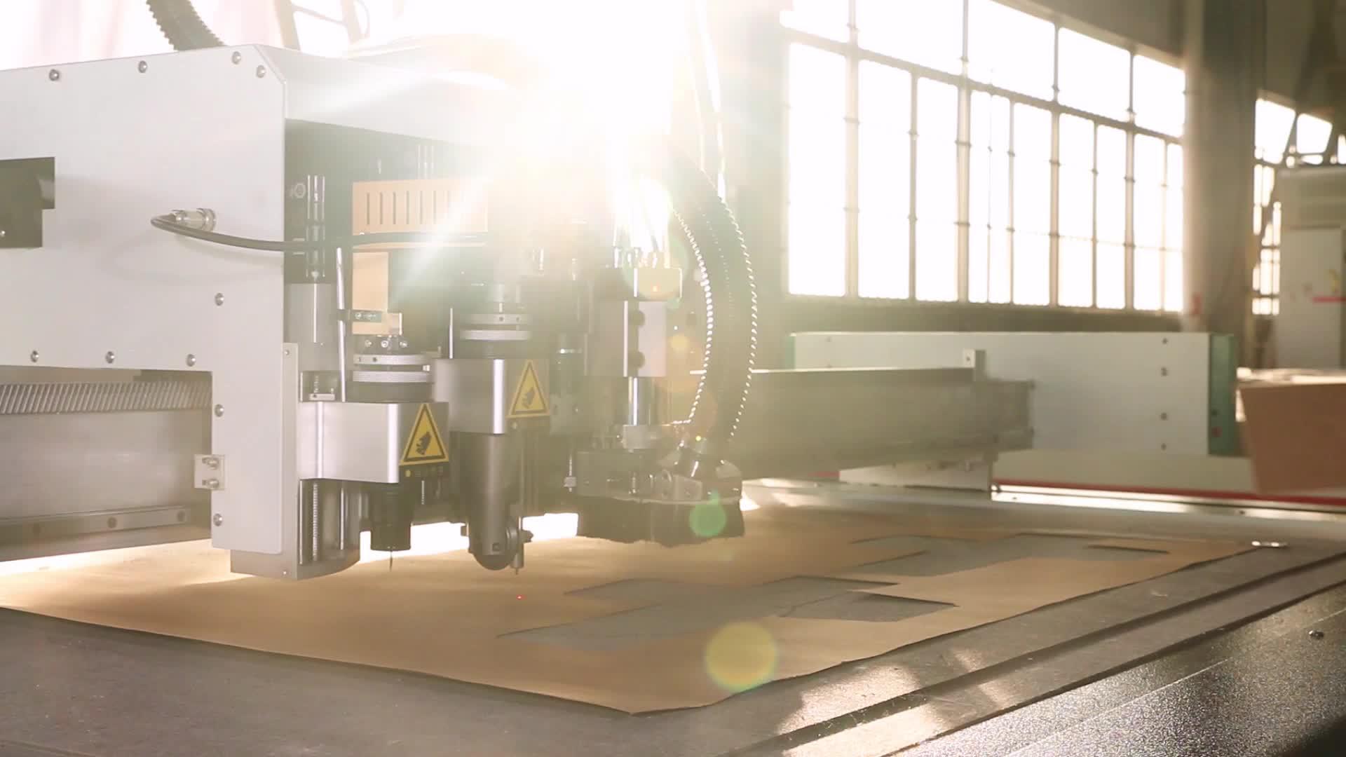 carton corrugated sheet  cnc oscillating v knife making cutting packaging machine for cardboard boxes