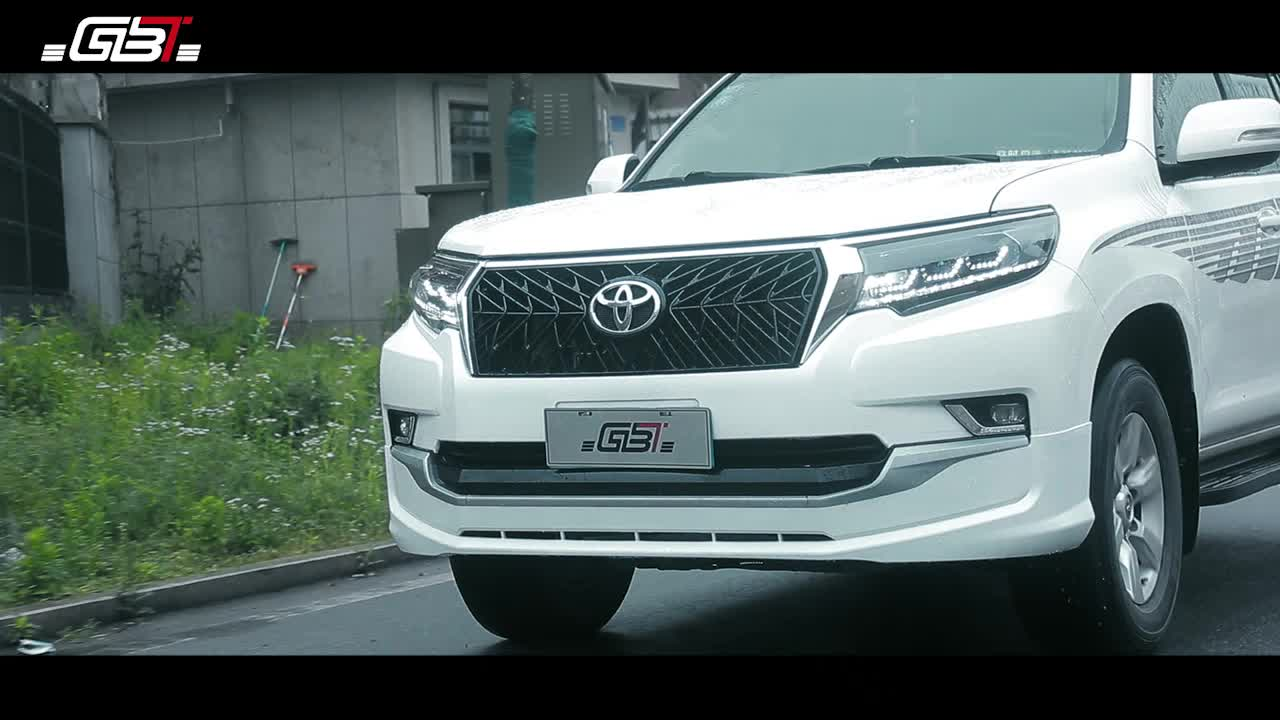 GBT BODY KIT 2019 FRONT/REAR BUMPER LIP and EXHAUST PIPE YEAR 2018 fitted for TOYOTA PRADO FJ150