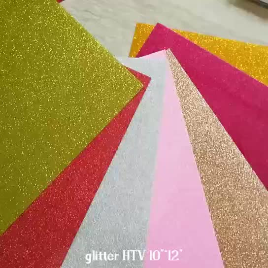 "Cheap Price glitter 10"" * 12"" htv vinyl sheets for shirts printing"