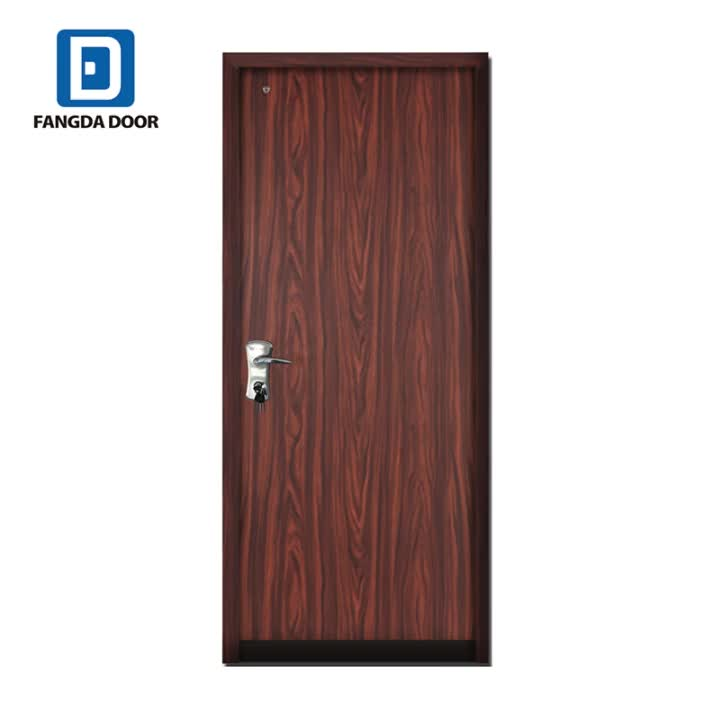 Fangda Wood Grain Steel Residential Security Fire Rated