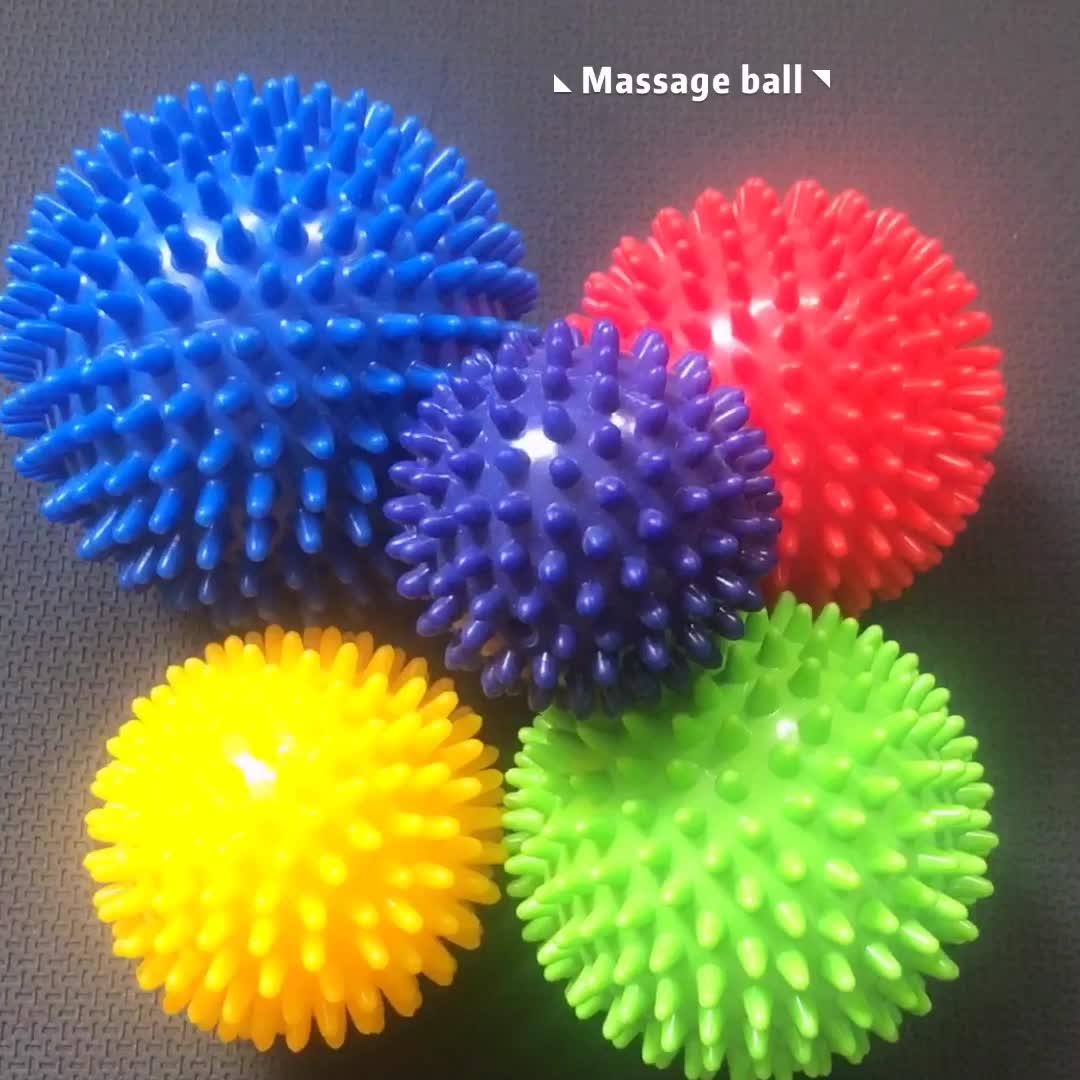 工場直接販売カラフルなミニマッサージボールグリップ抗ストレスボールフィットネス