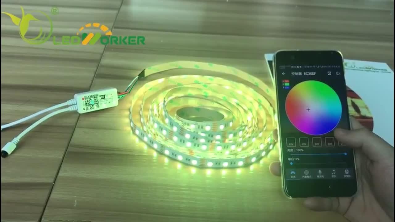 Shenzhen Factory Price DC24V 60leds RGBWW+RGB+CCT 5in1 5050SMD Innovative Flexible Led Strip