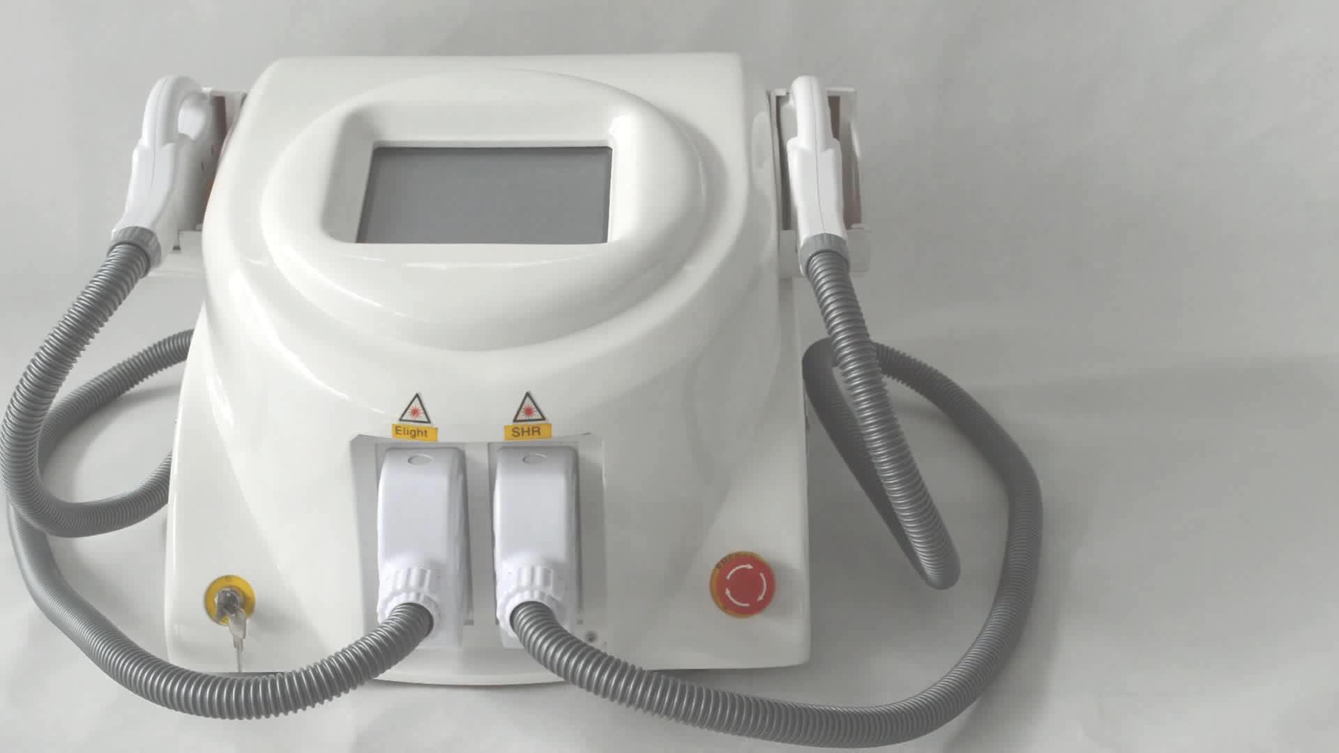 Schönheit ausrüstung ance entfernung shr ipl laser haar entfernung mit 2 griffe
