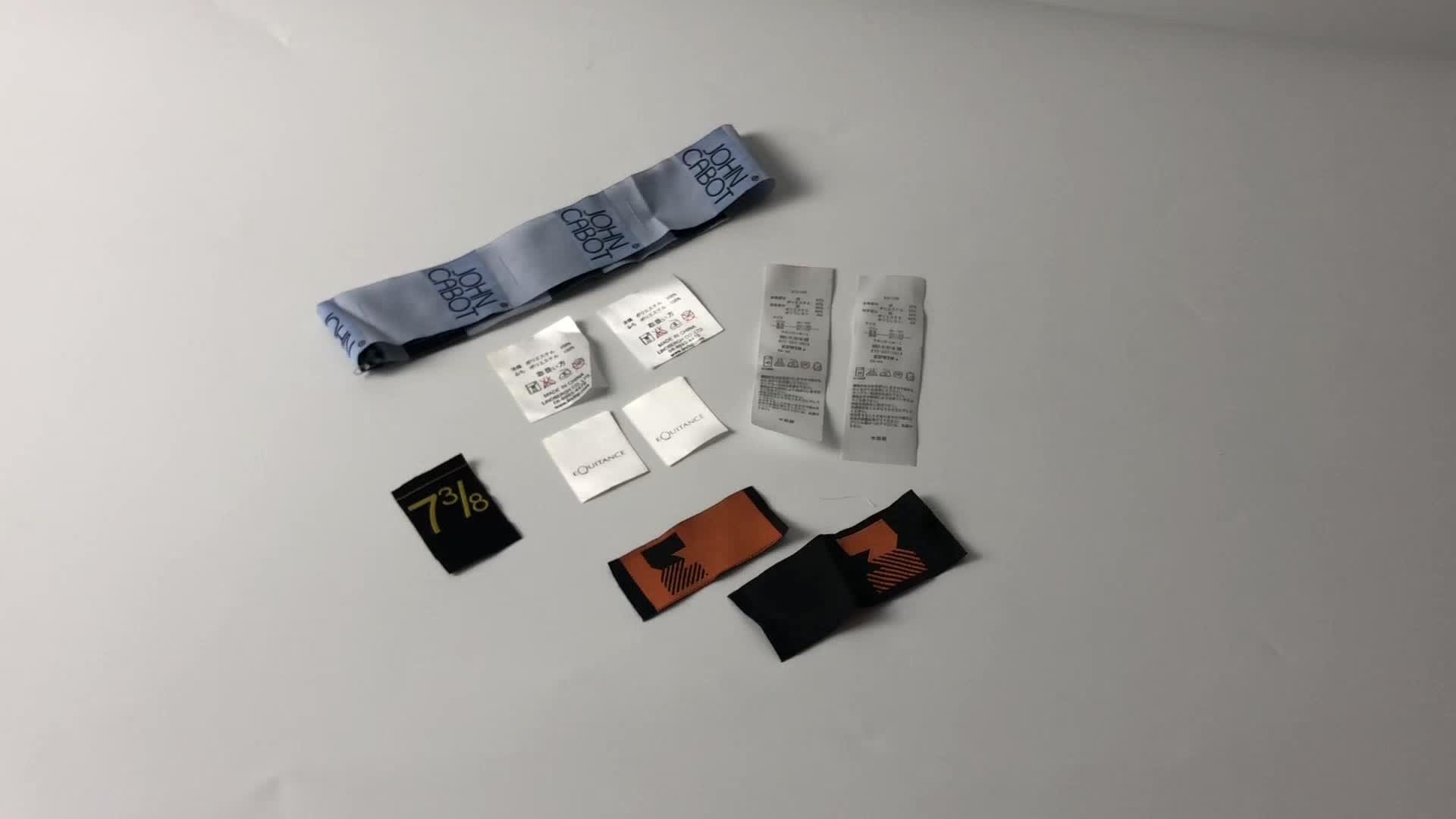 Dokuma etiketler asmalı özeletiketler konfeksiyon kumaş yıkama bakım marka logosu etiketleri