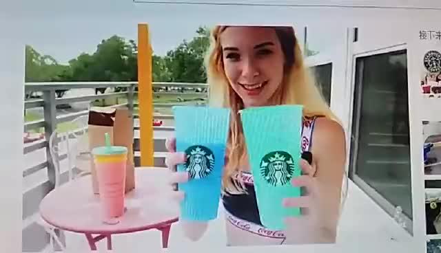 710 мл FDA одобренная горячая/холодная меняющая цвет пластиковая кофейная чашка с одной стенкой с крышкой и соломинкой