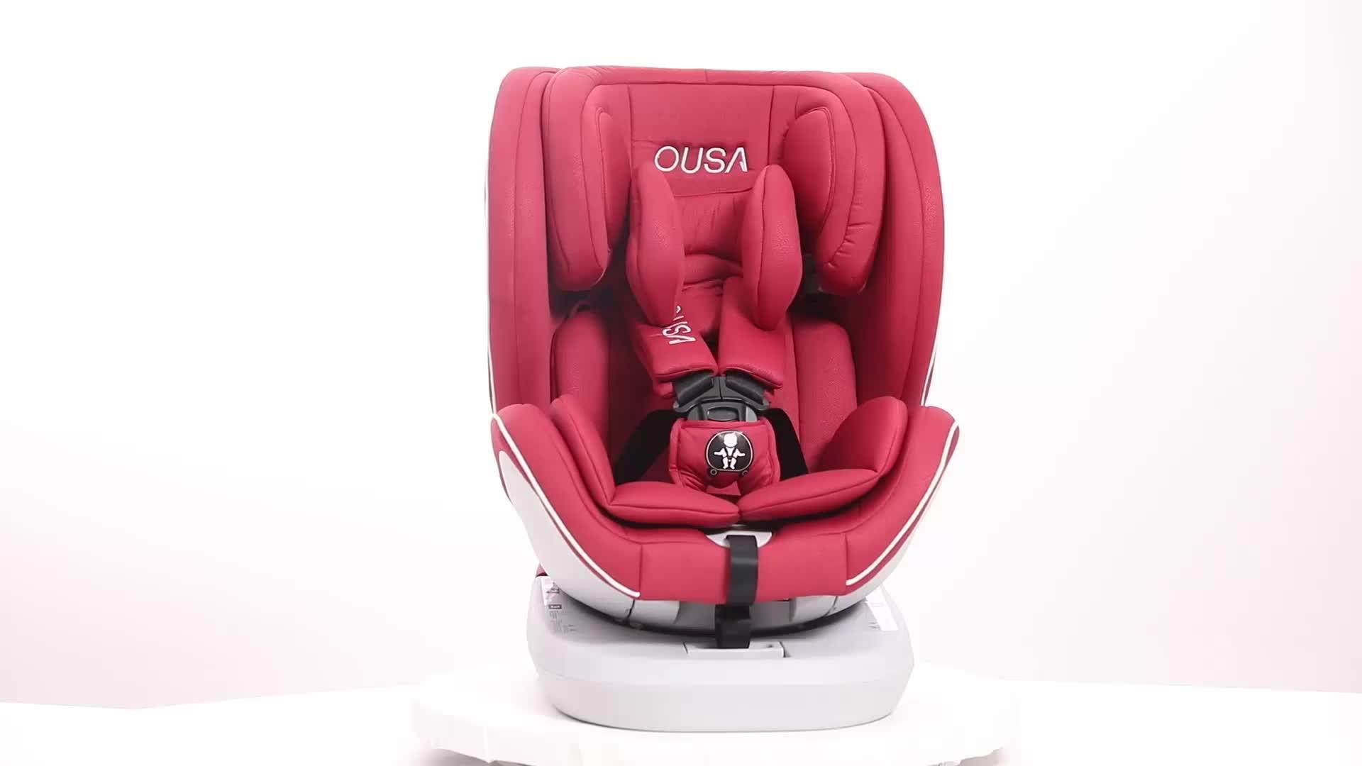 איכות מעולה לסובב 360 תואר ילד בטיחות רכב מושב כורסת תינוק מכונית מושב קבוצת 0123 עם ISOFIX