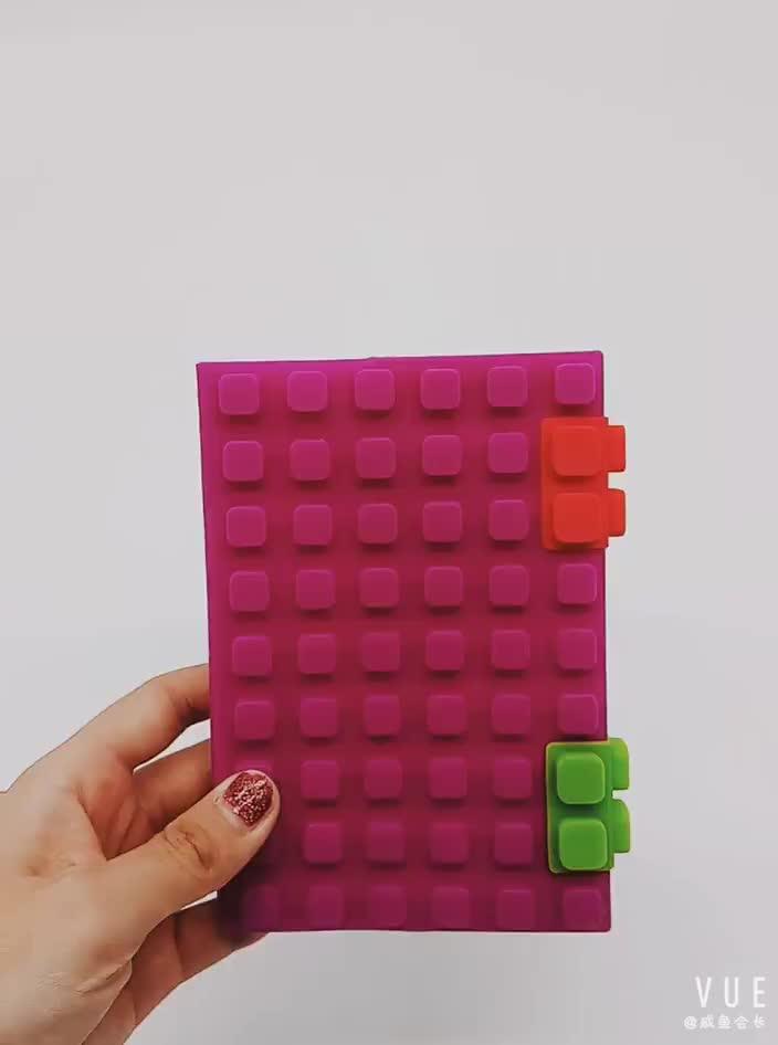 Renkli A5/A6 dizüstü Silikon blokları dizüstü öğrenci not defteri