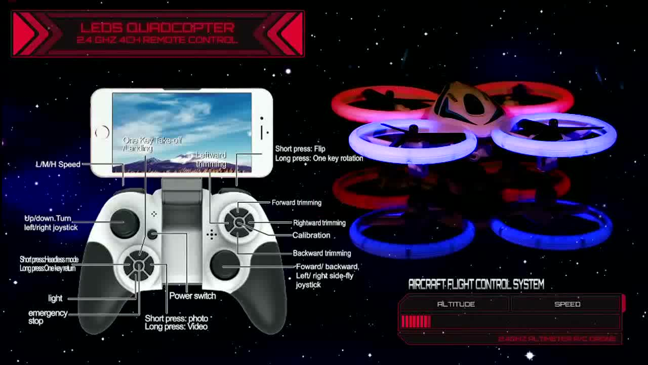Remote control smart wifi flying helicopter plastic toy drones with camera