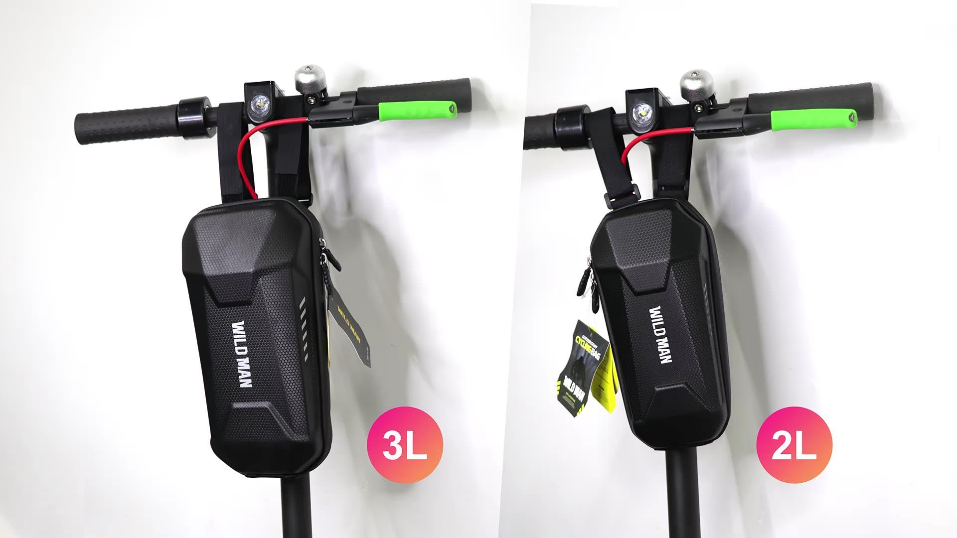 Sac de Scooter électrique rangement suspendu 2L sac WILD MAN coque dure sac de rangement étanche pour xiaomi m365 scooters électriques