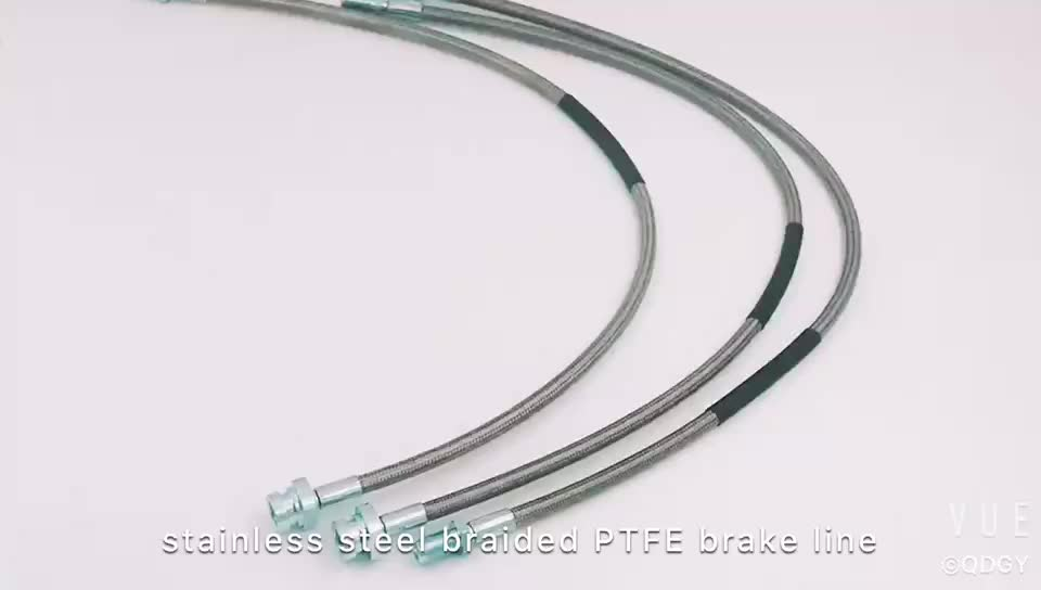 hydraulic automotive front stainless steel braided brake hose assembly