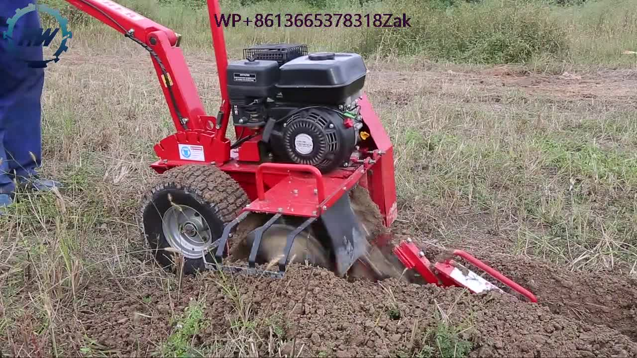 China Wholesale 15Hp 600mm Trench Depth Walk-Behind Trencher/Agriculture Machine Trencher For Sales