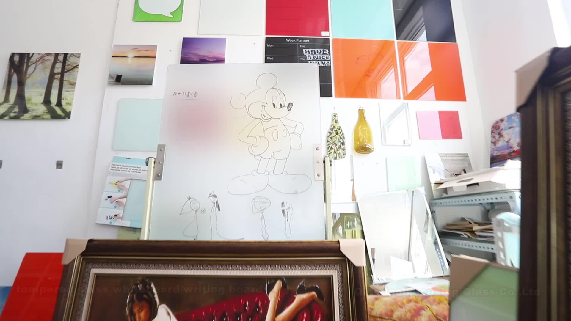 """Grote maat 48 """"x 72"""" magnetische gehard glas droge wissen whiteboard met 12 stks magneten"""