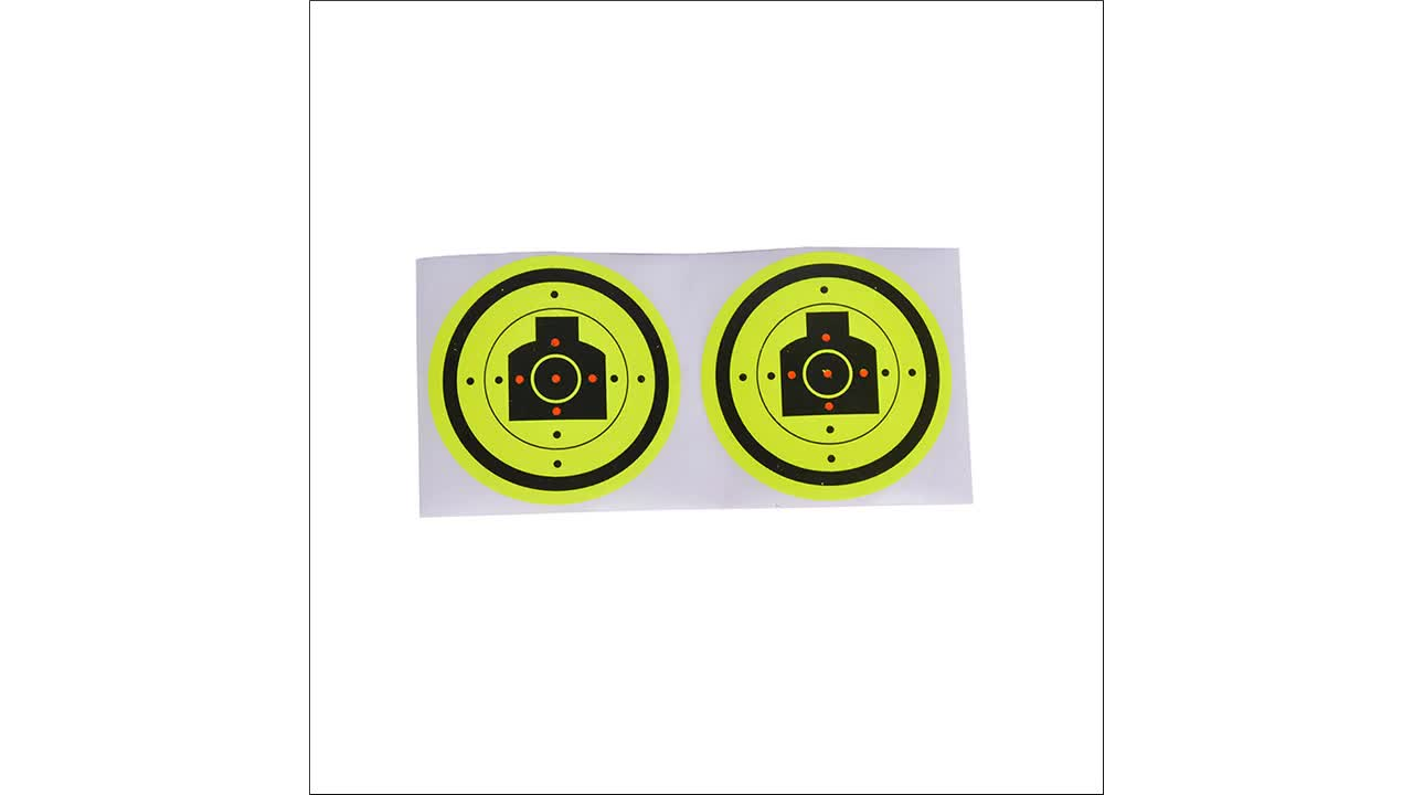 Smart Sticker 1 Inch Round Blank Black Shooting Target Pasters 1,000 Adhesive Target Dots