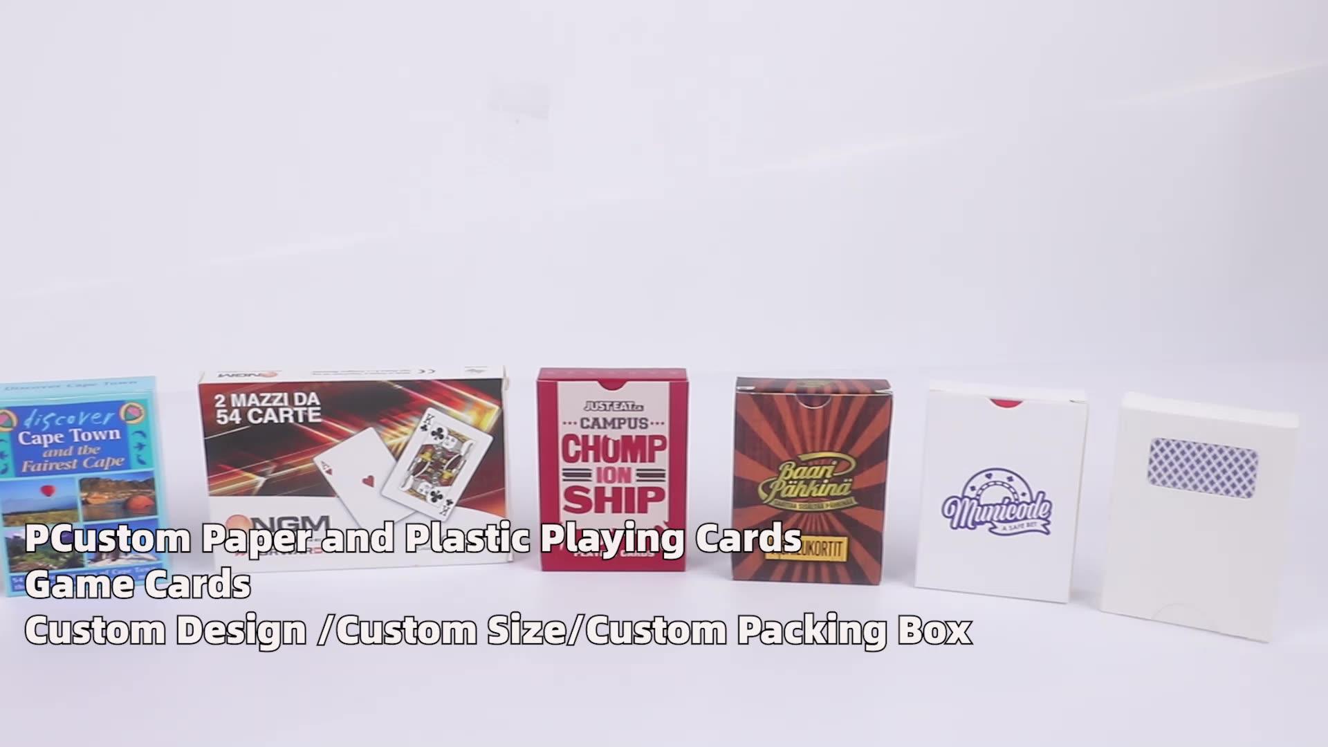 Cartão de jogo de plástico personalizado