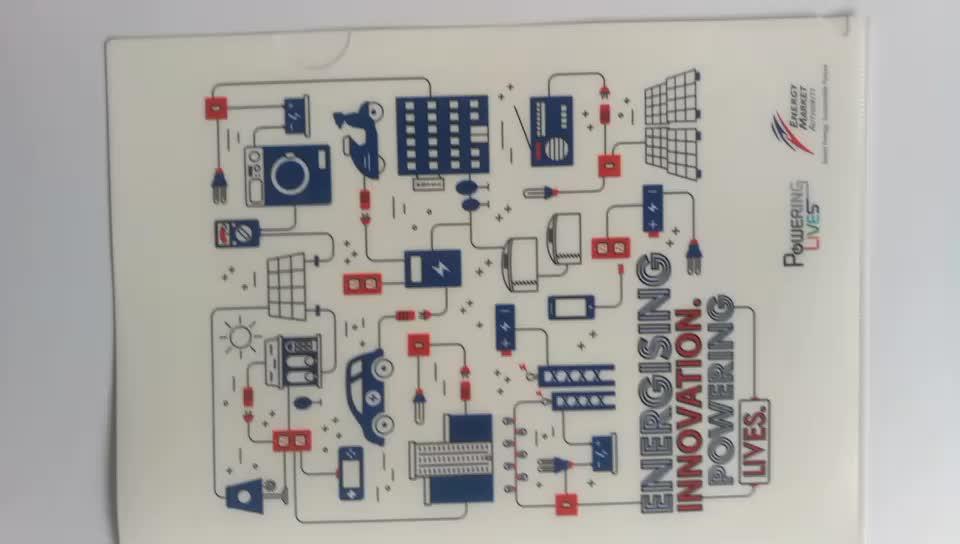 พลาสติกA4โฟลเดอร์แฟ้มกระเป๋าที่มีสีสันพิมพ์โลโก้