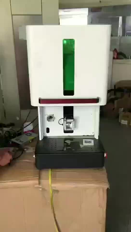Portable hobby metal fiber laser marking machine 20w 30w for sale