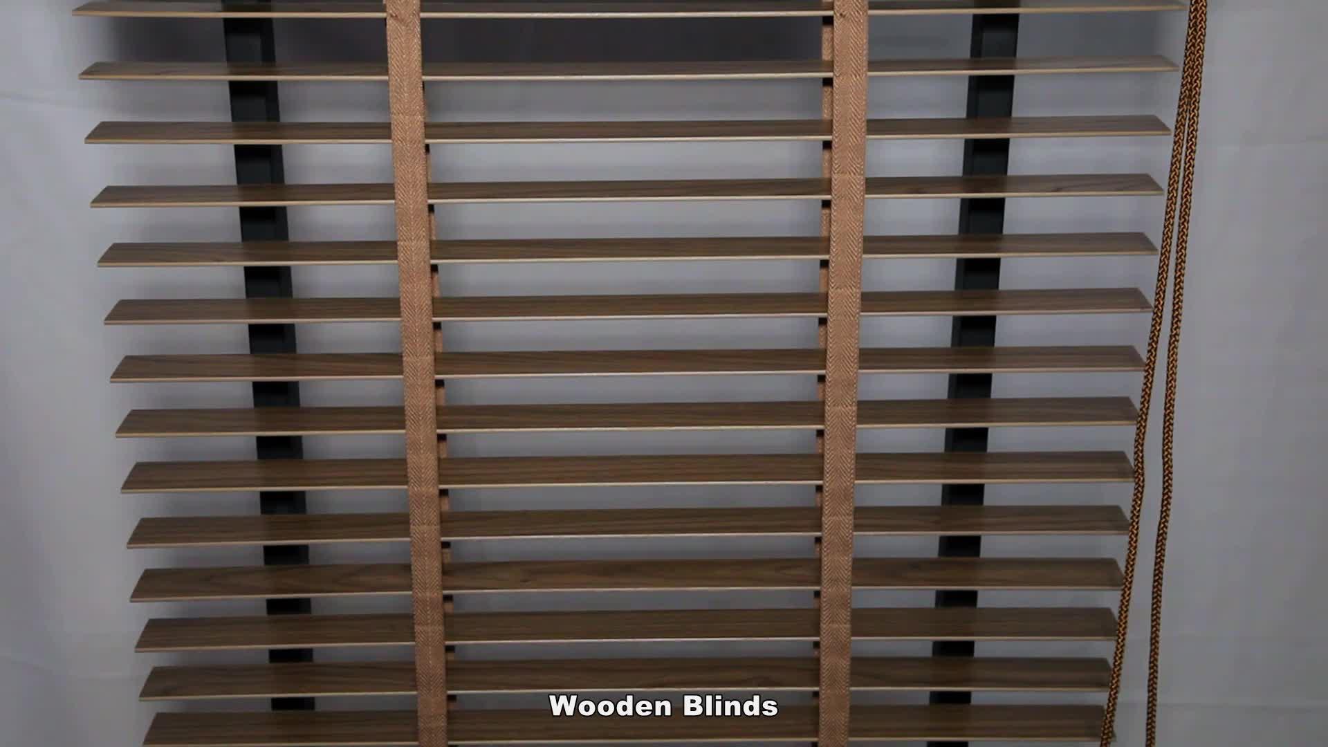 Not easy to deform Wooden window Blinds  slats window price wood blinds