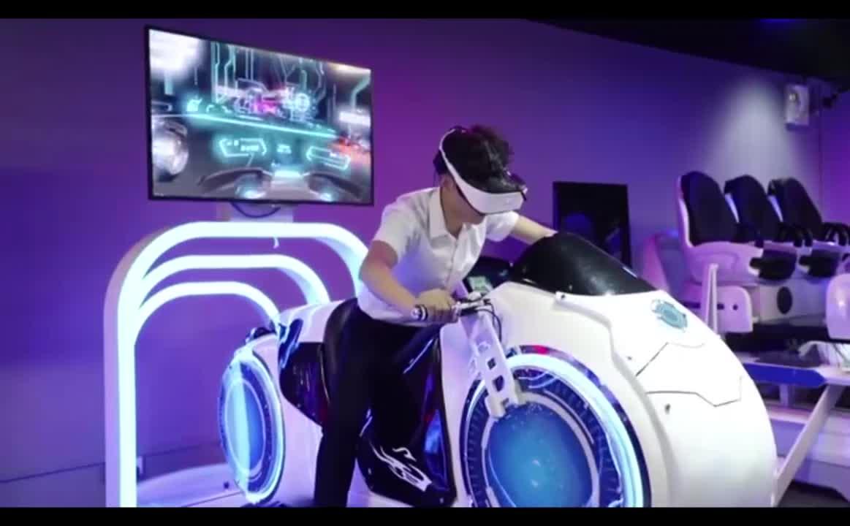 游乐园游乐虚拟现实游戏机 9D Vr 摩托驾驶赛车游戏出售