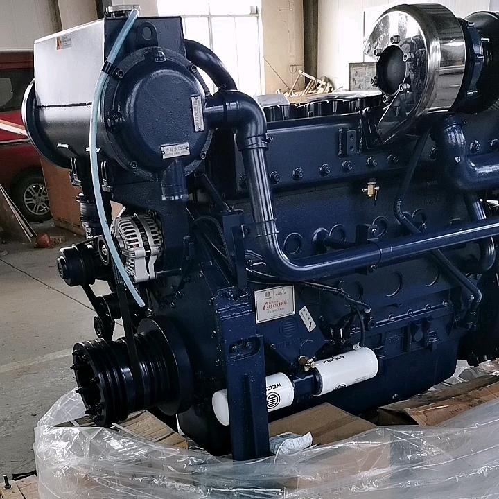 350hp WD12C350-18 Weichai motor diesel com caixa de velocidades