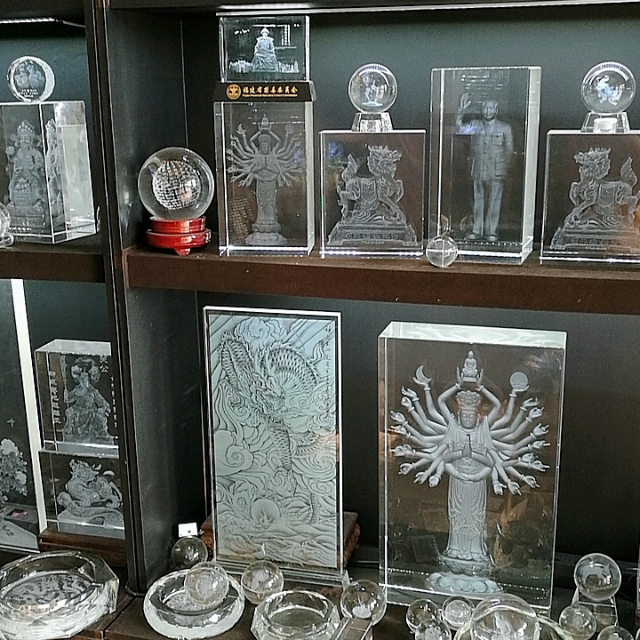 Durable using low price 3d crystal glass cube laser engraver