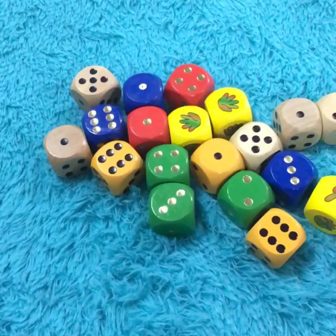 YF-L0205 rounded corner 30mm dice OEM accept custom printing wooden game cube dice sexy dice