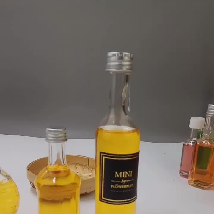 Vazio Mini 50 ml 100 ml 200 ml Garrafas de Licor de Vinho de Vidro