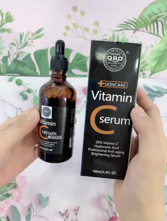 Высокое качество частная марка чистый лучший уход за кожей Витамин С Сыворотка VC отбеливание Гиалуроновая кислота увлажнение