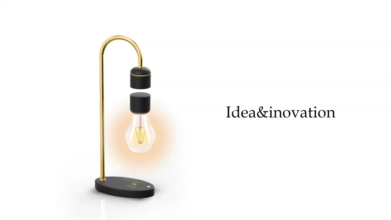 innovative product 2020 promotion gifts floating bulb magnetic night  magnetic desk lamp levitating