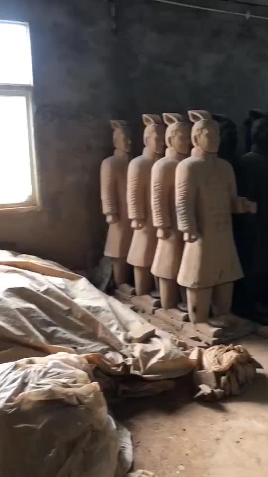 Vida tamanho Da Dinastia Qin Guerreiros de Terracota Estátua OEM Personalizar Interior Escultura de Arte