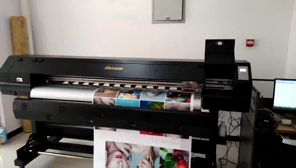"""Impressora solvente solvente de 1.6m 63 """"5 pés Eco CMYK com Epson DX5 / XP600 para o filme transparente do PVC"""