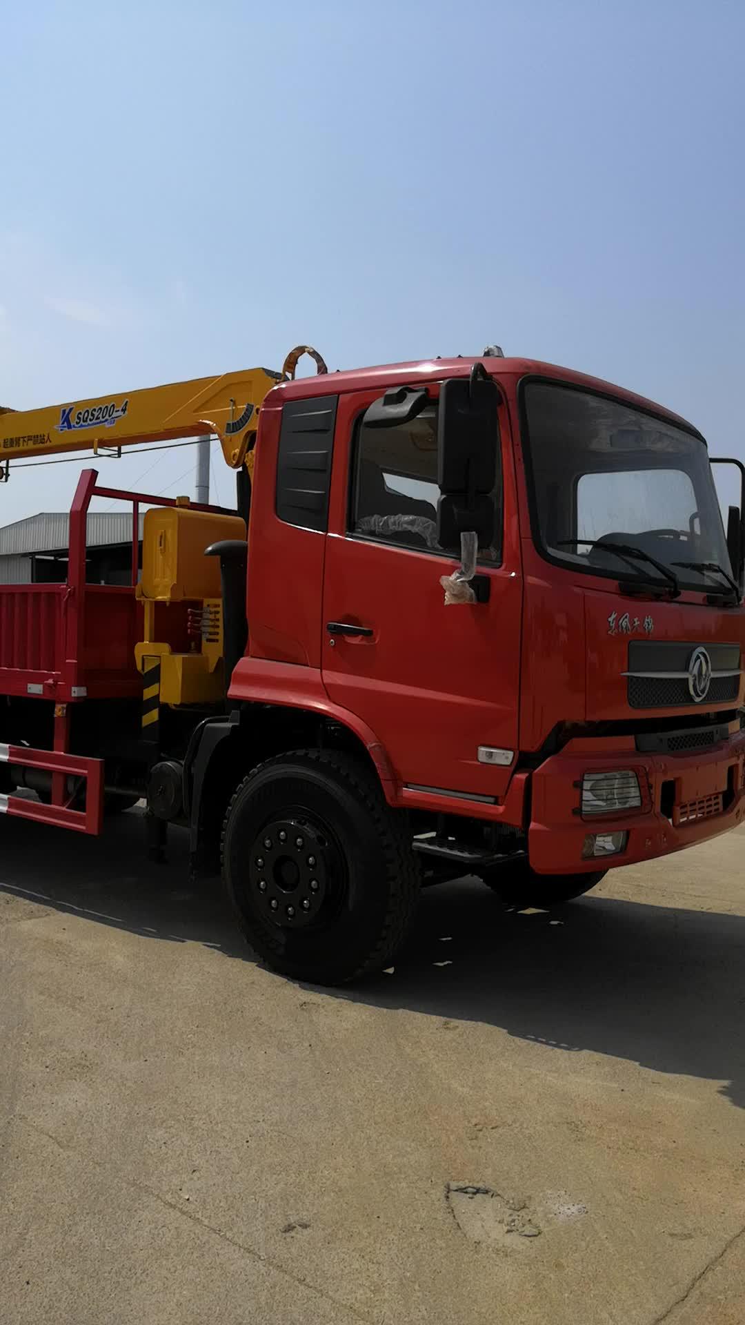 Dongfeng 4x2 5 ton kamyona monte vinç, vinçli kamyon, vinçli kamyon fabrika doğrudan tedarik iyi kalite ile