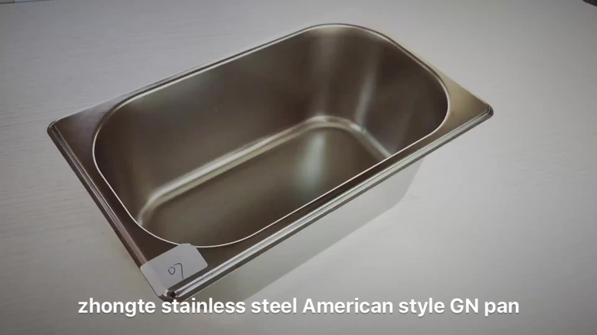 Stainless steel buffet food warmer gn pan for hotel restaurant equipment