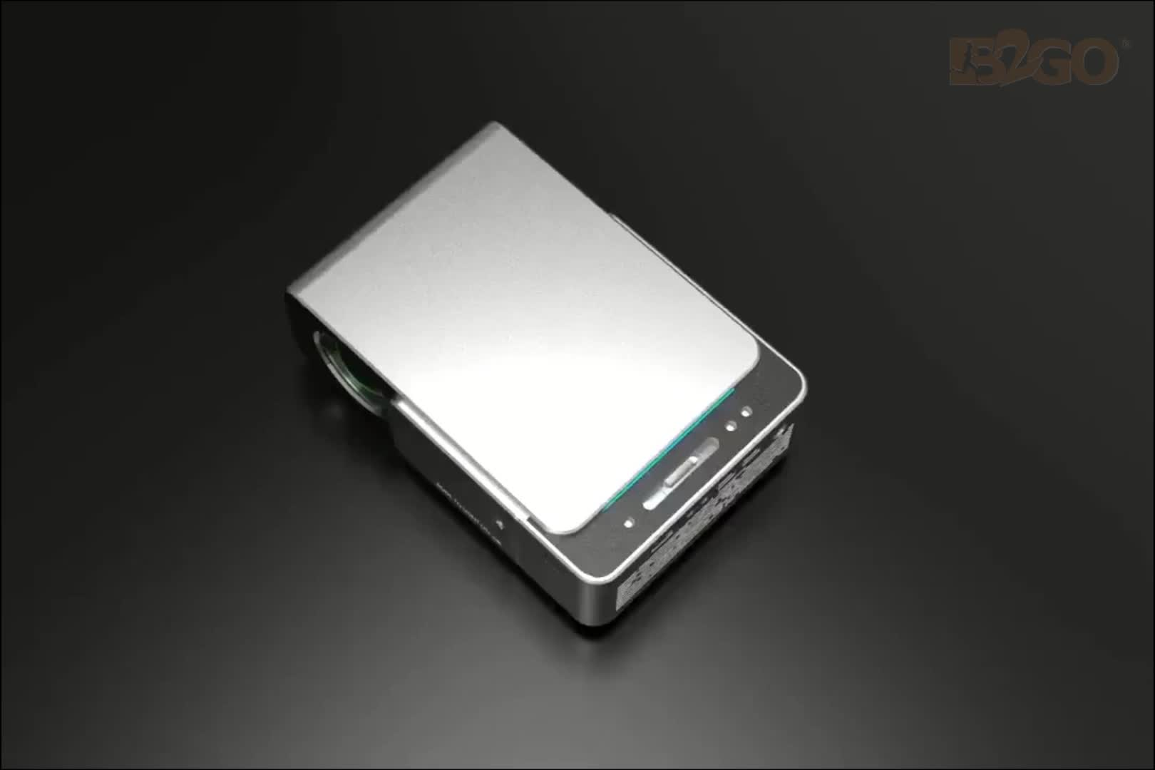 شاشة عرض LCD 170 لومن 800 بوصة بدقة * ثلاثية الأبعاد, جهاز عرض Led قصير 4k