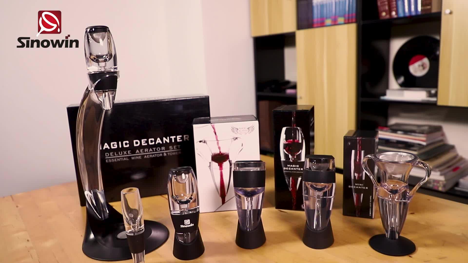 Amazon Deluxe Angel Decanters ไวน์ Aerator พร้อมขาตั้ง