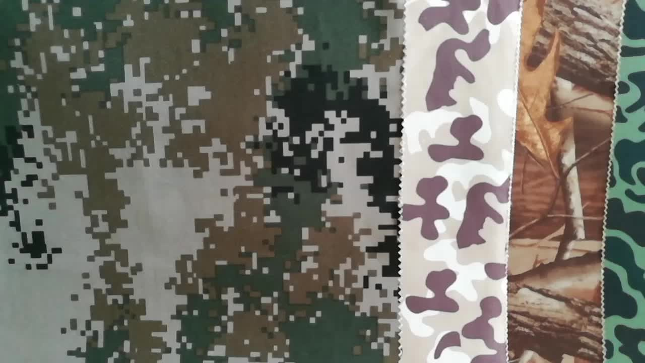 Wholesale 600D ripstop polyester urban camouflage oxford outdoor textile